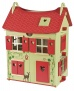 Janod Wooden Dolls House with Furniture